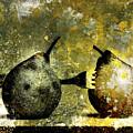 Two Pears Pierced By A Fork. by Bernard Jaubert