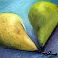 Two Pears Still Life by Michelle Calkins