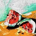 Two Piece Watermelon  by Hae Kim