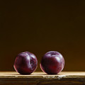 Two Plums by Mark Van crombrugge