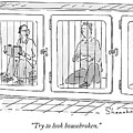 Two Prisoners Sit In Separate Dog Kennel Cells by Danny Shanahan