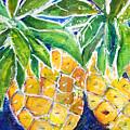 Two Purple Pineapples by Julie Kerns Schaper - Printscapes
