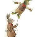 Two Rabbits 02 by Kestutis Kasparavicius