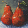 Two Red Pears II  by Torrie Smiley