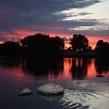 Two Rocks Sunset In Prosser by Carol Groenen
