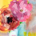 Two Roses- Art by Linda Woods by Linda Woods