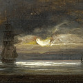 Two Sailing Boats By Moonlight by Peder Balke