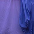 Two Sheets Abstract Purple Blue by Wayne King