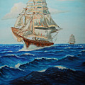 Two Ships Sailing by Quwatha Valentine