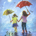 Two Sisters Rain Blond Little Sister by Vickie Wade