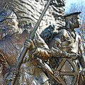 Two Soldiers Of The The African American Civil War Memorial -- The Spirit Of Freedom by Cora Wandel