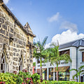 Two Solitudes, Holetown Church And Limegrove Mall, Barbados by Eric Drumm