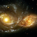 Two Spiral Galaxies by Jennifer Rondinelli Reilly - Fine Art Photography