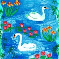 Two Swans by Sushila Burgess