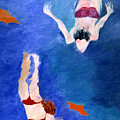 Two Swimmers by Lisa Baack