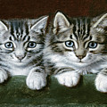 Two Tabby Kittens  by Horatio Henry Couldery