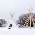 Two Tipis by Angela Moyer