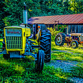 Two Tractors And A Barn 2697t by Doug Berry