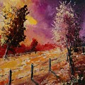 Two Trees Waiting For The Storm by Pol Ledent