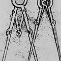 Two Types Of Adjustable Opening Compass by Leonardo da Vinci