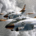 Two U.s. Navy T-2c Buckeye Aircraft by Stocktrek Images