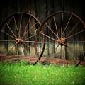 Two Wagon Wheels by Michael L Kimble