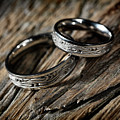 Two Wedding Rings With Celtic Design by Awen Fine Art Prints