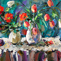 Two White Tulips by Debra Hurd