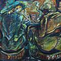 Two Women At Bar by Katt Yanda