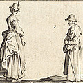 Two Women In Profile by Jacques Callot