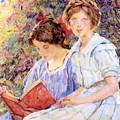 Two Women Reading by Reid Robert Lewis