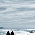 Two Women Walking At The Beach In The Winter by Jose Elias - Sofia Pereira