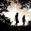 Two Women Walking by Clayton Bastiani