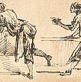 Two Workmen At Tables (recto) by Giovanni Battista Piranesi