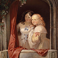 Two Young Ladies At The Window by Elisabeth Modell