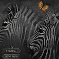 Two Zebras by Maria Astedt