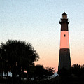 Tybee Light Sunset by Rhodes Rumsey