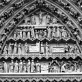 Tympanum Doorway At Cathedral Basilica Of Our Lady Of Amiens, France by Aidan Moran