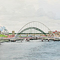 Tyne Bridges And Quayside by George Levitt