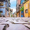 half-timbered houses, Riquewihr, Alsace, France   by Marco Arduino