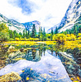 Typical View Of The Yosemite National Park by Jeelan Clark