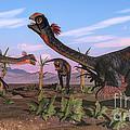 Tyrannosaurus Rex Attacking by Elena Duvernay
