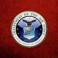 U. S.  Air Force  -  U S A F Emblem Over Red Velvet by Serge Averbukh