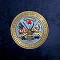 U. S. Army Seal Over Blue Velvet by Serge Averbukh