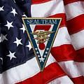 U. S. Navy S E A Ls - S E A L Team Seven  -  S T 7  Patch Over U. S. Flag by Serge Averbukh