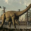 Uberabatitan Dinosaur Walking by Elena Duvernay