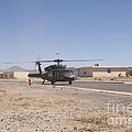 Uh-60 Black Hawk Helicopter Lands by Terry Moore