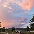 Ulagan Sunset. Mountain Altay by Viktor Kovchin