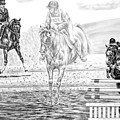 Ultimate Challenge - Eventing Horse Print by Kelli Swan