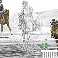 Ultimate Challenge - Horse Eventing Print Color Tinted by Kelli Swan